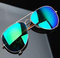 Classic 3025 Reflective Sunglasses New Sunglasses Fashion Sun Glass For Women Sun Glasses For Men Vintage Sungalss Free Shipping