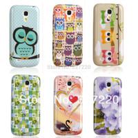 Free Shipping soft silicone cell phone case cover for Samsung Galaxy S4 mini I9190 i9192 i9195 TPU case Etui Skin Gel three owls