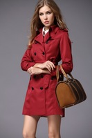 HOT NEW 2013 Women Fashion Brand England Stylish long Double Breasted Spring/Autumn Trench Coat/Designer Elegant Outerwear#26010