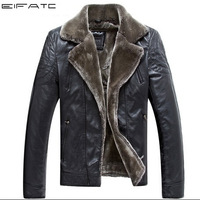 HOT!!! fashion Men's Brand luxury fur genuine leather men's Fur coat very warm in Winter motorcycle genuine Leather jacket,M-2XL