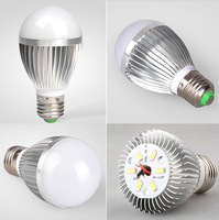 3PCS  3W  5W 7W  High brightness LED Bulb E27 AC85~265V  Energy Saving LED Light Lamp White /Warm White