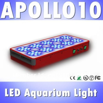 Apollo 10 120*3W LED aquarium light White: Blue=3:2 full spectrum reef coral tank light, White 12000k &Blue 460nm (Customizable)
