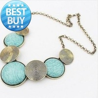 Fashion Jewelry Necklace 2013 Women Bosnian style New Gold Collar&Choker&Statement Gold Bubble Fashion Jewelry Gift For Women Ho