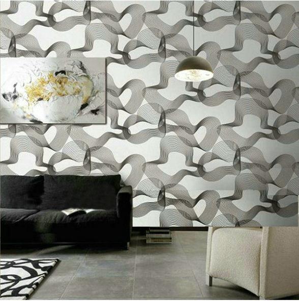 온라인 구매 도매 현대 검은 색과 흰색, 벽지 디자인 중국에서 ...