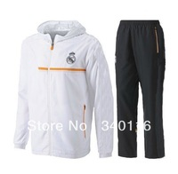 2013-2014 season Real Madrid Training Hooded Presentation tracksuit top quality tracksuit size:S-XL