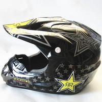 Free shipping 2013 winter motocross helmet off road helmet motorcycle helmet M L XL black white skull Rockstar  helmet