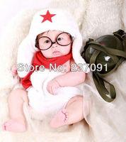 White Glasses Set Baby 0-6month Handmade Plush Newbaby Photography Props Newborn Photo Infant Animal Beanie Caps Hats Short