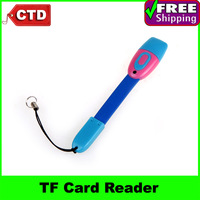 3 in1 TF Card Reader+USB Charger+Data Cable, Universal Micro USB Adapter Charger Mini Micro 5 Pin USB Cable
