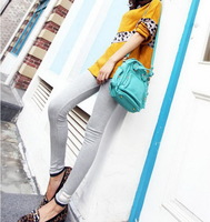 Spring and Autumn Women Lady Cute Cat Modal Cotton Thin Leggings Ninth Pants