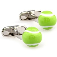 Sport cufflink!Green tennis men's shirt cufflink,metal cufflink AT8421