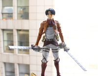 "Attack on Titan action figure Levi/Rivaille Shingeki no Kyojin Soldier 8"" PVC toys for girl gift"