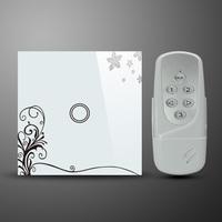 50Hz-60Hz EU UK Standard Style 1 Gang RF Wireless Remote Touch Home Wall Light Switch System AC110~240 Volt