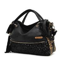 Bags  Women Famous Brands Designer Handbags High Quality Leopard Print  Tassel Totes  Women Cross Body Messenger  Bag HS-4-31