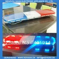Free shipping 1w led light 1200MM RED/BLUE COLOR led emergency lightbar 12V or 24V TBD-GA-810L3 MORE BRIGHTER