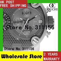 Free Shipping New fashion DZ7259 Men's SBA Stainless Steel Dual Time Zone Chronograph Sports Luxury Quartz Watches 30M