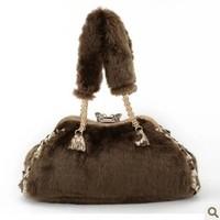 2013 autumn and winter rabbit fur bags women's handbag fox fur one shoulder big bags fashion