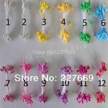 (1400PCS/lot )wholesale multicolor foam flower stamens christmas decoration stamen and DIY pistil stamen