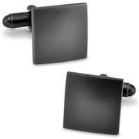Tungsten steel plated + high quality metal  frosted square cufflinks + free shipping !!! High quality metal cufflinks