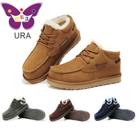 Free Shipping Dropship 4 Colors Genuine Leather Winter Snow Boots for Men 2013 Fashion Thermal Winter Boots SS007