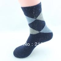 Free Shipping 5prs/lot socks thermal winter socks thickening rabbit wool men's socks male socks