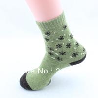 Fashion Diamond Snow Design Women Wool Warm Winter Socks,5 Pair/Lot+Mix Colors+Free shipping