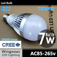 4pcs/lot,Led bulb E27 7w,Led bulb lamp,CREE,Cool white/warm white,E27,700lumen,150 degrees,7w led lamp,Free Shipping