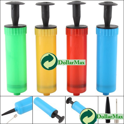 New arrive: Mini Colors Plastic Hand Air Pump W/ Needle Ball Party Balloon Soccer Inflator wholesale(China (Mainland))