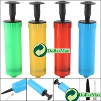 New arrive: Mini Colors Plastic Hand Air Pump W/ Needle Ball Party Balloon Soccer Inflator wholesale