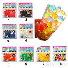 10bag / lot perla en forma de suelo cristalino granos del agua del fango Grow Mágico Jelly bolas boda Decoración 00ZJ(China (Mainland))
