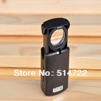 1pcs 30x21mm Black Microscope fold eye Jewelry Loupe Pull Type Jewelry Magnifier with LED Light Hot Selling