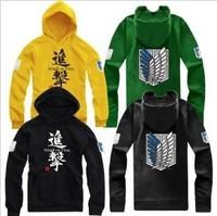 2013 Hot sale free Shipping Attack On Titan men & women  hoodies Shingeki no kyojin cosplay The Scouting Legion Survey Corps