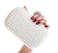 New arrival !!! Luxury diamond pearl evening bags, PVC rhinestone crystal clutch,fashion wedding party women bags 03977