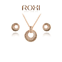 ROXI Exquisite rose golen old coins jewelrys for elegant women party  with zircons, new style,best Christmas gift,2070021690