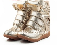 Hot sales Wholesale Isabel Marant  High top Suede Sneakers Womens Genuine Leather Boots and Free shipping