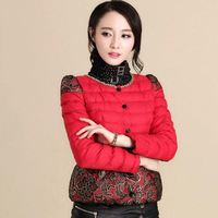 New winter coat thick down jacket ladies padded jacket Slim body cotton down coat women 8003 Europe