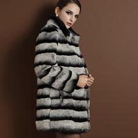 2013 Winter 100% Imitated Cincilla Rex Rabbit Fur Coat Natural fur Jacket NO. SU-1399 EMS FREE SHIPPING