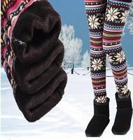 winter thickening  super warm Leggings women winter pants  loose  Snowflake Christmas deer  flower women leggings