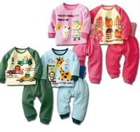 Boy baby suit children suit warm winter long-sleeved T shirt + pants Kids clothes tracksuit baby suit Set kids pajama sets