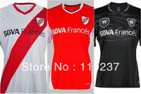 13/14 River Plate home white Soccer football Jersey top Thailand quality football Jerseys uniforms embroidery logo