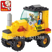 With original box Educational Toys for children Sluban Building Blocks tractor self-locking bricks Compatible with Lego