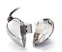Genuine Capacity USB Flash Drive, Heart Pen Driver, Gift USB Flash Disk, 8gb-32gb Jewelry USB flash drive Free Shipping