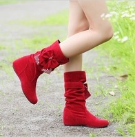 2013 Women snow boots ankle boots autumn fashionable casual sleeve boots round toe shoes woman