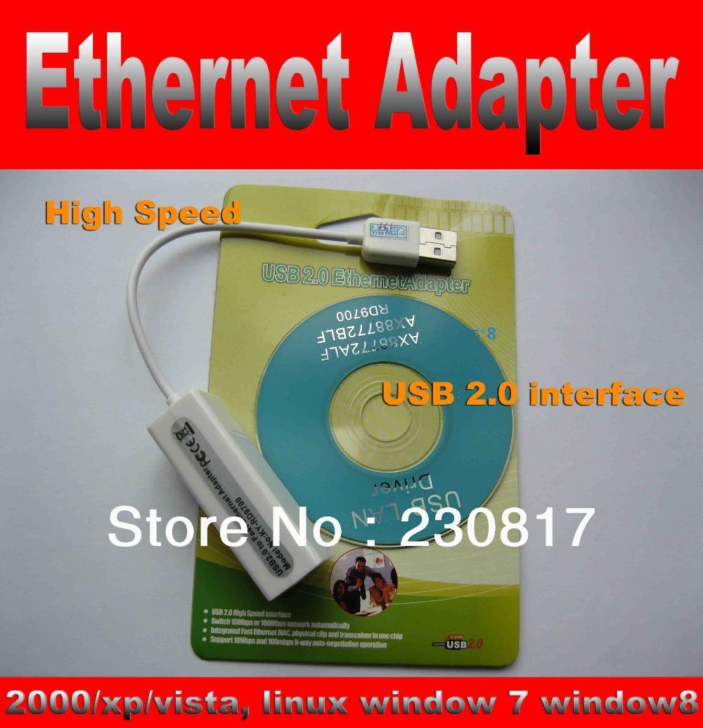 New USB 2.0 to Ethernet Adapter 10/100 RJ45 Network Lan Adapter Card Linux Windows 7/8 2000 XP Vista(China (Mainland))