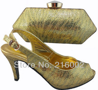 Free shipping by DHL, High quality ladies' Fish-mouth dress shoes w/ matching evening clutch in GOLD, PURPLE, BLUE, SILVER.