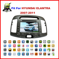Android 2.3 7 inch Car DVD fit for HYUNDAI ELANTRA 2007-2011 with WiFi/buletooth/3G/touch Screen/GPS/FM Free shipping+MAP