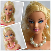 Free shipping necklace & Ear ring 3 sets accessories for barbie doll