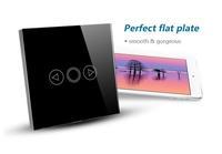 110~240V AC EU,UK Standard 1 Gang 1 Way  Wall Light Touch Switch Black Crystal Glass Panel