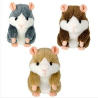 Free Shipping Talking Hamster Toy Repeat Russian English and any Language Talking Plush Hamster Toy Learning Animal Toy CL01216