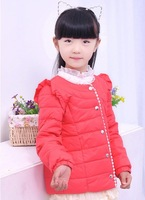 1 pc Retail Children's Winter Down Jacket Little Girls' Warm Father Dress Down Overcoat Parkas for girl
