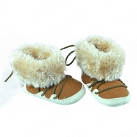 Kids Infant Boys Girls Toddlers Winter Warm Flate Snow Slippers Faux Fur Shoes Thicken Artificial YNTZ078